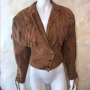 Adventure bound wilson leather 80's suede jacket